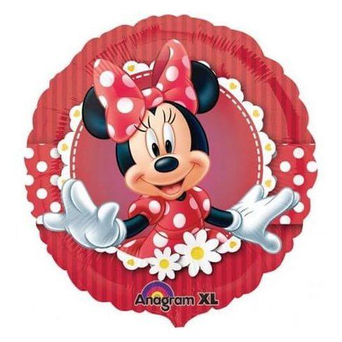 Disney Minnie fólia lufi piros 43cm
