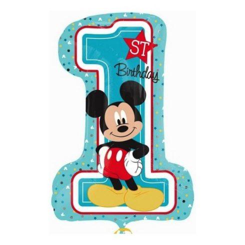 Disney Mickey első születésnap fólia lufi 71cm