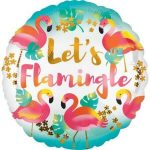 Flamingó Fólia lufi 43 cm