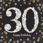 Happy Birthday 30 szalvéta 16 db-os