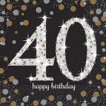 Happy Birthday 40 szalvéta 16 db-os