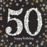 Happy Birthday 50 szalvéta 16 db-os