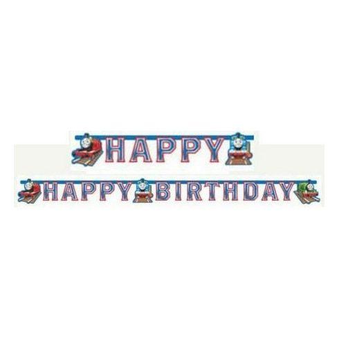 Thomas a gőzmozdony Happy Birthday felirat 180cm