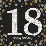 Happy Birthday 18 szalvéta 16 db-os