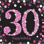 Happy Birthday 30 szalvéta 16 db-os lány