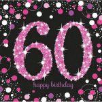 Happy Birthday 60 szalvéta 16 db-os