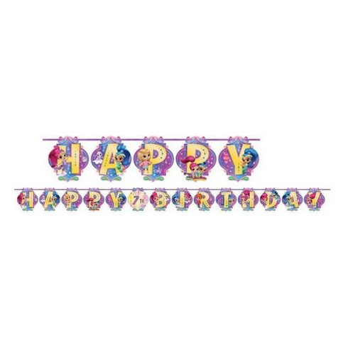 Shimmer és Shine Happy Birthday felirat 200cm