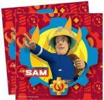 Sam a tűzoltó szalvéta bordó 20 db-os