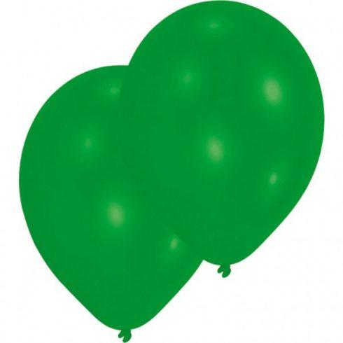 Színes zöld léggömb lufi 10 db-os