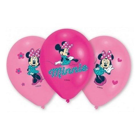 Disney Minnie léggömb lufi happy 6 db-os