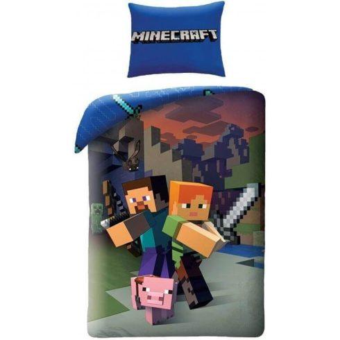 Minecraft ágyneműhuzat Steve és Alex 140x200cm 70x90cm