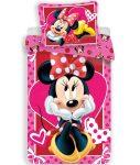 Disney Minnie ágyneműhuzat pink 140x200cm, 70x90cm