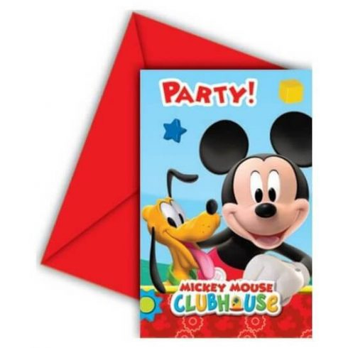 Disney Mickey party meghívó playful 6 db-os