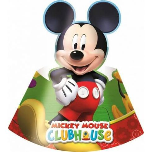 Disney Mickey party kalap csákó playful 6 db-os