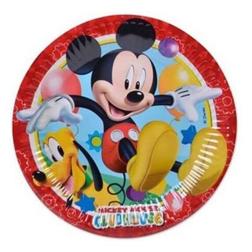 Disney Mickey papírtányér playful 8 db-os 19,5cm