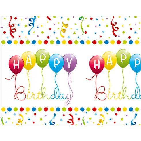 Happy Birthday asztalterítő ünnepi 120x180cm