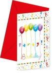 Happy Birthday Party Meghívó 6 db-os