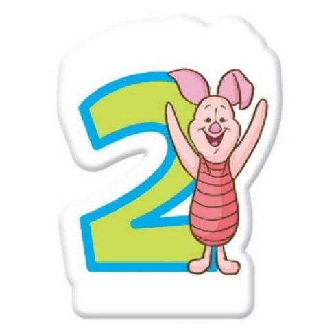 Disney Micimackó tortagyertya számgyertya 2