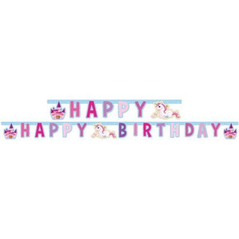 Unikornis Happy Birthday felirat 185cm