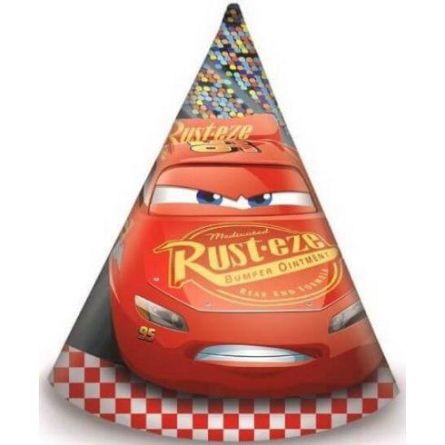Disney Verdák party kalap csákó cars3 6 db-os