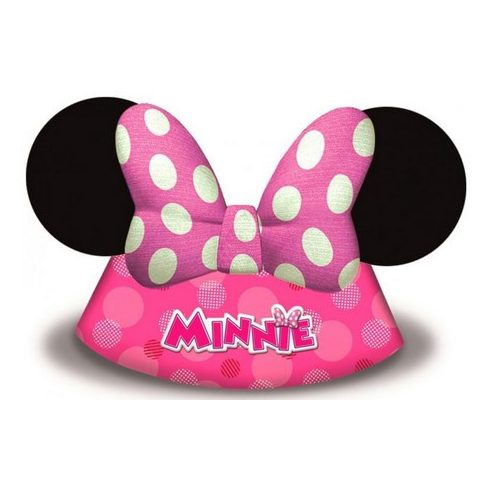 Disney Minnie party kalap csákó pöttyös 6 db-os