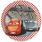 Disney Verdák, Cars Papírtányér 8 db-os 19,5 cm