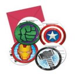 Avengers, Bosszúállók Party Meghívó 6 db-os