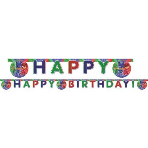 Pizsihősök Happy Birthday felirat 200cm