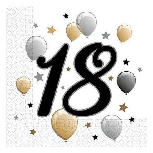 Happy Birthday 18 szalvéta 20 db-os