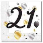 Happy Birthday 21 szalvéta 20 db-os