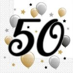 Happy Birthday 50 szalvéta 20 db-os