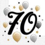 Happy Birthday 70 szalvéta 20 db-os