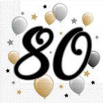 Happy Birthday 80 szalvéta 20 db-os