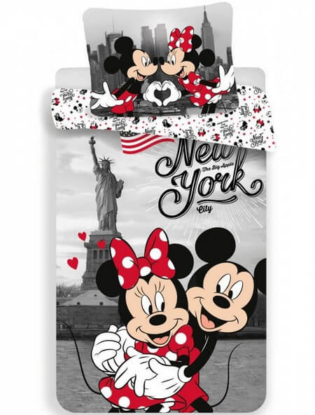 Disney Minnie és Mickey ágyneműhuzat New York 140x200cm 70x90cm
