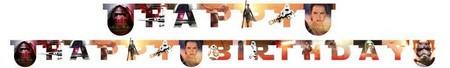 Star Wars Happy Birthday felirat ébredő erő 210cm